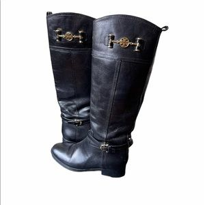 Tory Burch Nadine riding boot in black, size 7